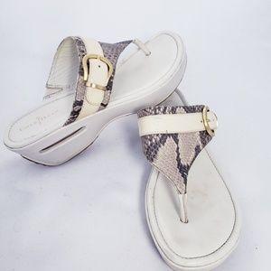 Cole Haan Snakeskin Thongs Sandals